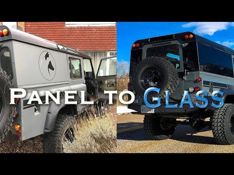 Masai Panoramic Glass Install - Defender 110