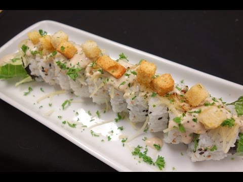 Shrimp Tempura Caesar Salad Roll - How To Make Sushi Series