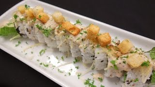 Shrimp Tempura Caesar Salad Roll - How To Make Sushi Series