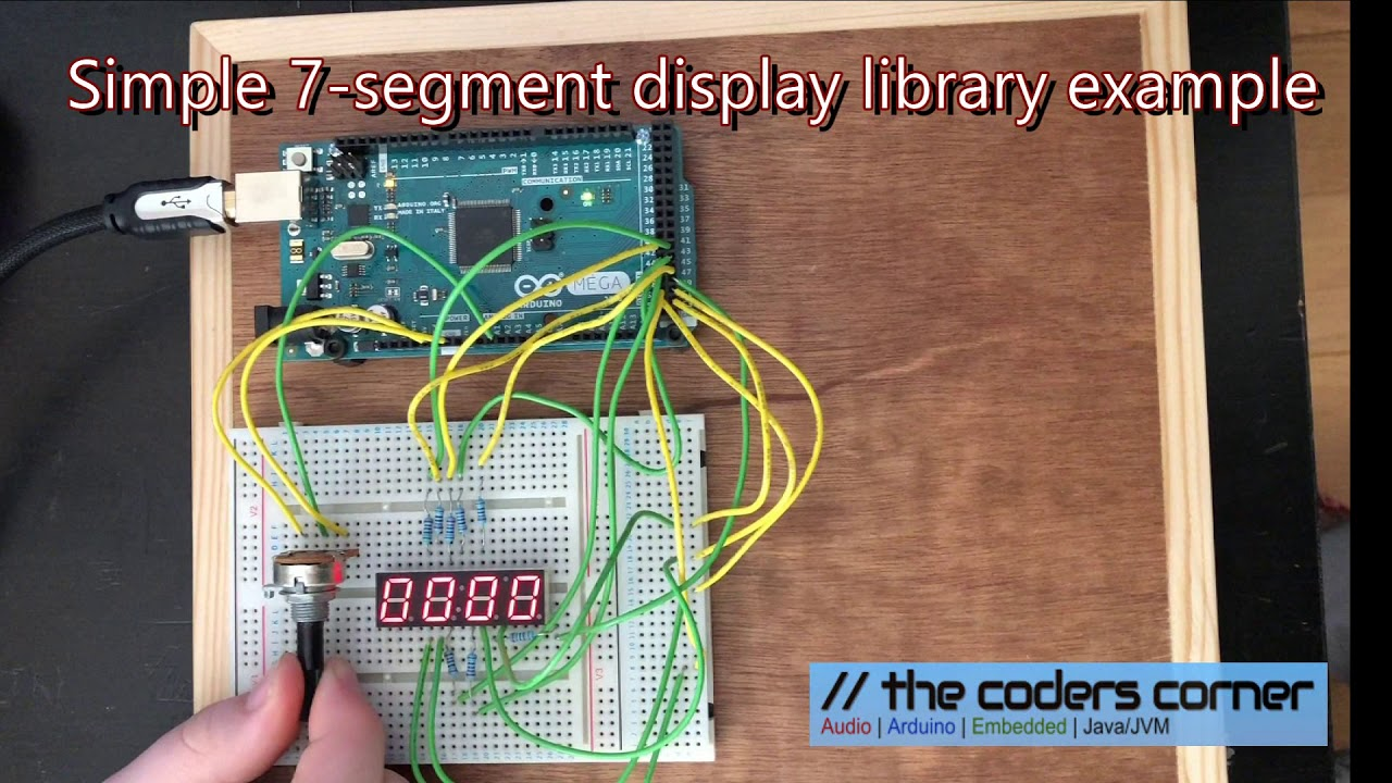 Arduino 7 segment LEDDisplay library download · The Coders Corner