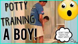 POTTY TRAINING A BOY!