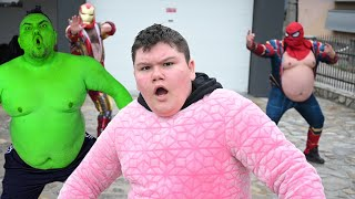Superheroes Help Young Man