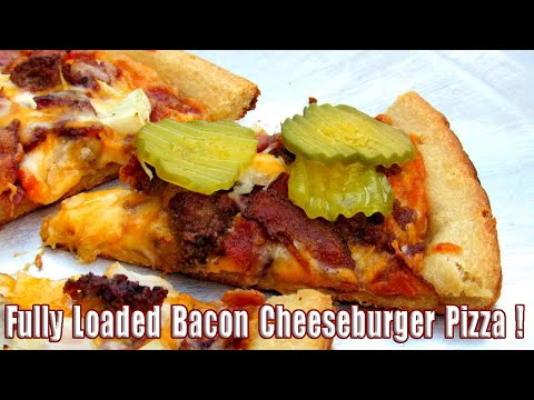 Bacon Chess Burger Pizza Recipe