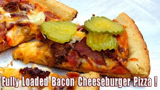 Grilled Pizza - Pizza on the Grill - Bacon Cheesburger Pizza Recipee