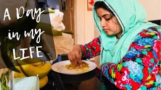 A Day in my Life / Gym Routine / Scrambled Egg curry/Cabbage Pulao/Banana PanCake