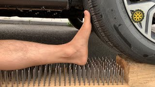 Experiment 200 Nails vs Car vs Plastic Foot | Crushing Crunchy & Soft Things by Car | Experiment Car