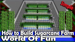 Minecraft World Of Fun Episode-11 How To Build Sugarcane Farm