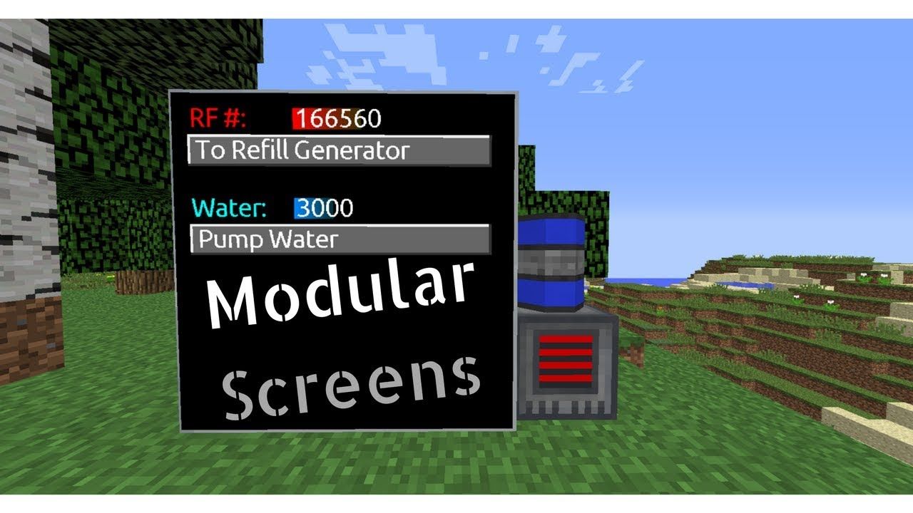 [Minecraft Modded Tutorial] Modular Screens w/ RFTools (1 12)
