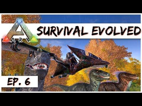 Ark Survival Evolved - Ep  6 - Super Fast Pteranodon Mount! - Ark