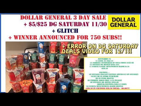 😍Dollar General Deals 11/30 + Dollar General Saturday Scenario +Giveaway Winner+ DG Glade Glitch😬