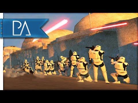EPIC BATTLE FOR TATOOINE - STAR WARS - Bear Force II Mod Gameplay