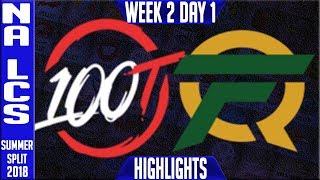 Video 100 vs FLY HIGHLIGHTS | NA LCS Summer 2018 Week 2 Day 1 | 100 Thieves vs FlyQuest Highlights download MP3, 3GP, MP4, WEBM, AVI, FLV Juni 2018