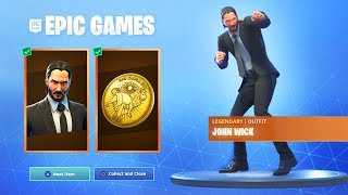 The NEW Fortnite JOHN WICK SKIN FREE REWARDS! (New Fortnite John Wick Challenges Rewards)