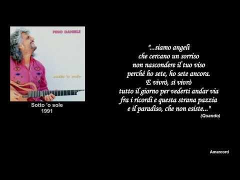 Pino Daniele - Per te (con frasi di Pino Daniele)