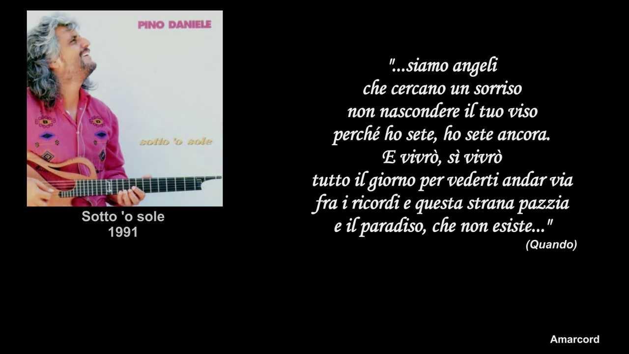 Pino Daniele Per Te Con Frasi Di Pino Daniele Youtube