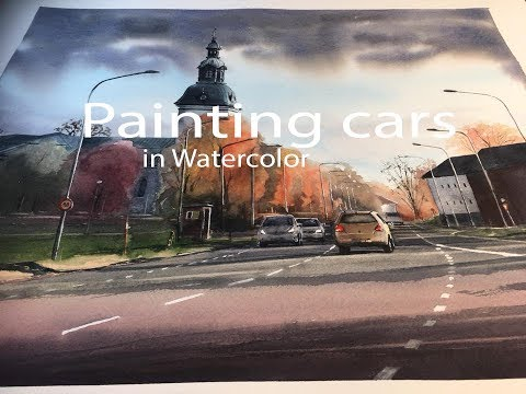 Painting cars in watercolor