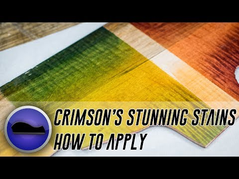 How to Stain Wood - A Tutorial With Crimson's Stunning Stains