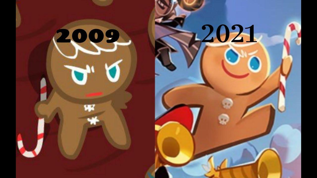Evolution of Cookie Run 2009 - 2021