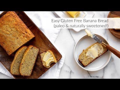 Easy Gluten Free Banana Bread (paleo & naturally sweetened!)