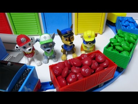 Thumbnail: Colors Learning M&M with Paw Patrol Train Playing Tomas&Tayo Bus&Roboca Poli