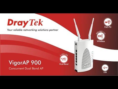 Vigor AP900 Configuración de VLANs en SSIDs
