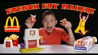 vuclip McDonald's FRENCH FRY MAKER! Making French Fries with Chef Evan in 4K!