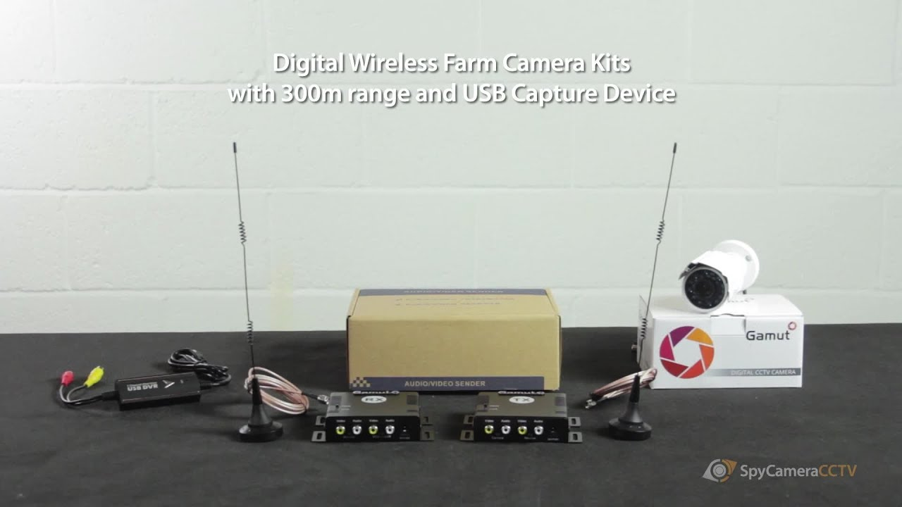 Digital Wireless Farm Security Camera Long Range Kit Youtube