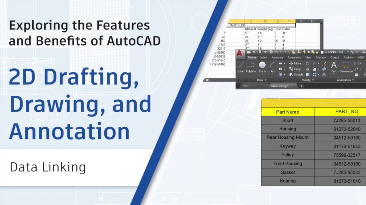 Data Linking: Exploring the Features and Benefits of AutoCAD