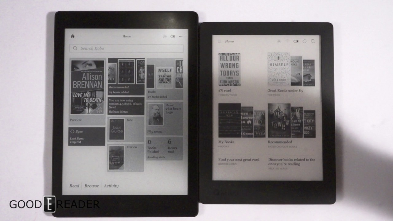 Kobo h2o edition 2 vs kobo aura one youtube for Housse kobo aura h2o edition 2