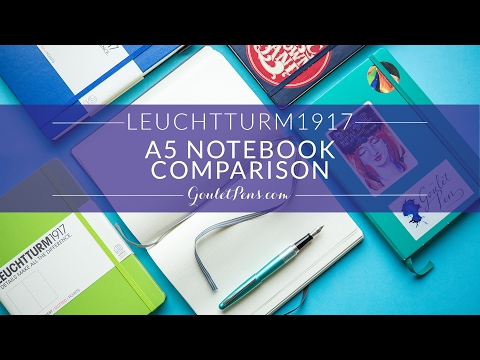 Leuchtturm1917 A5 Notebook Comparison