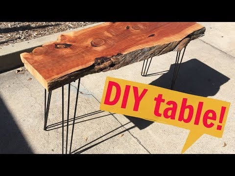 How to Make a Modern Hairpin Leg Table | DIY with Caitlin Video | Do it Yourself