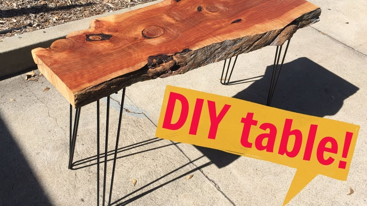 How To Make A Modern Hairpin Leg Table Diy With Caitlin Video Do It Yourself Youtube