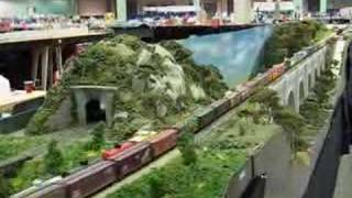 model railroad layout at nmra train show 2007