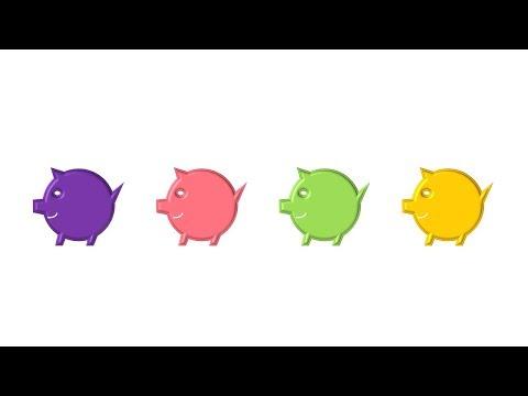 Easy pig clip-art Diagram / Creative pig year design Ideas /DIY PPT 013