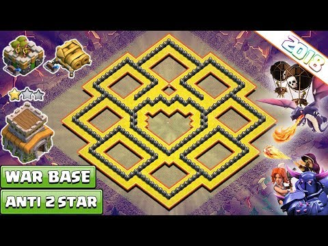 NEW! Clash of Clans Town Hall 8 (TH8) War Base 2018 !! th8 base anti Dragon, Anti GOVAWI – COC