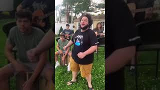 Lad sings Pokemon theme with incredible Jack Black impression