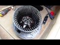 Comment démonter le pulseur d'air d'habitacle sur BMW E90