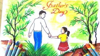 Vẽ bức tranh về Ngày của Cha