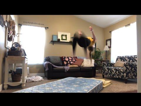 made-an-at-home-gymnastics-gym!-|yoga-challenge