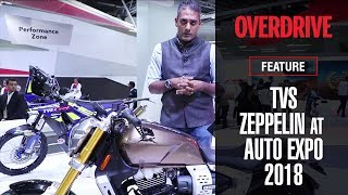 TVS Zeppelin cruiser concept first look | Auto Expo 2018 | OVERDRIVE