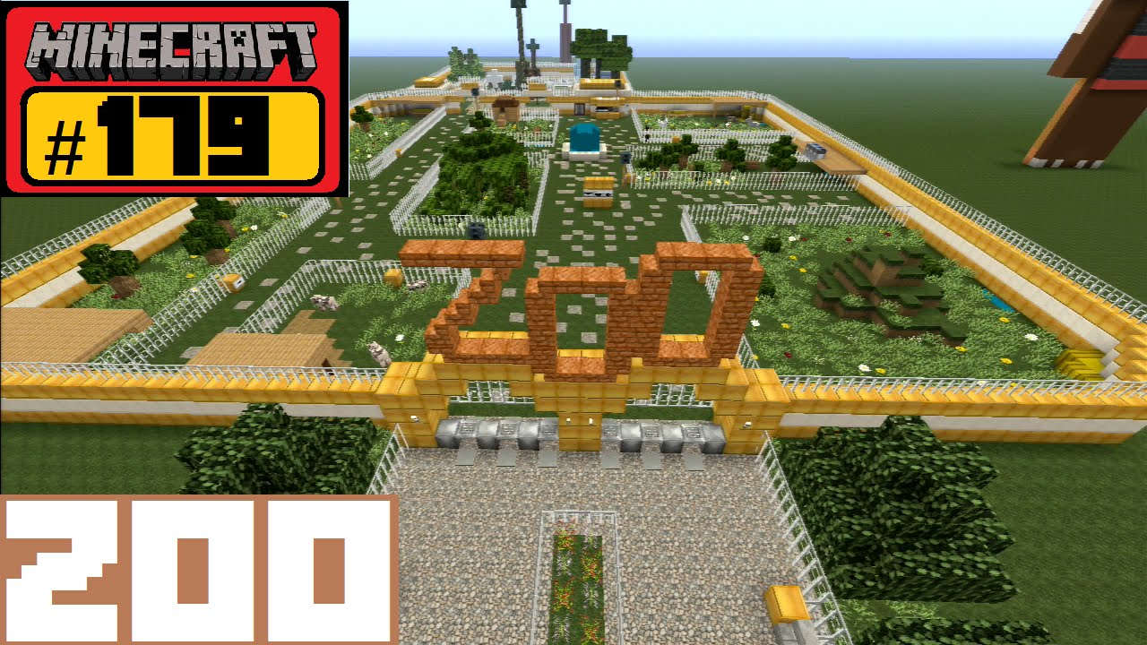 Minecraft Let's Build #179 - ZOO Minecity - YouTube