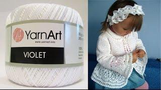 YarnArt (Турция)VIOLET 100% хлопок-обзор на пряжу.Пряжа для ручного вязания.