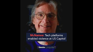 McNamee: Tech platforms enabled violence at US Capitol