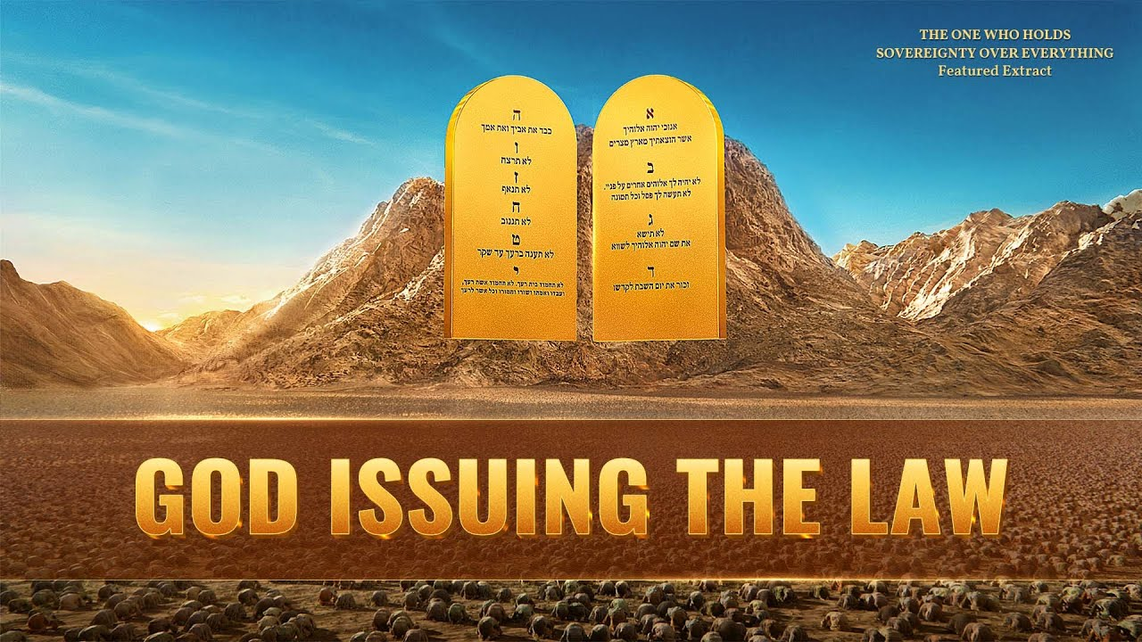 God Issuing the Law