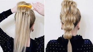 Как красиво заплести хвост Красивые прически пошагово на средние и длинные волосы Sveta Rash