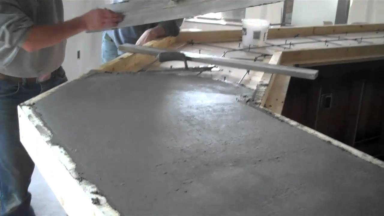 Superbe Concrete Countertops Pour La Crosse, WI, Dublin Square Empire Development    YouTube