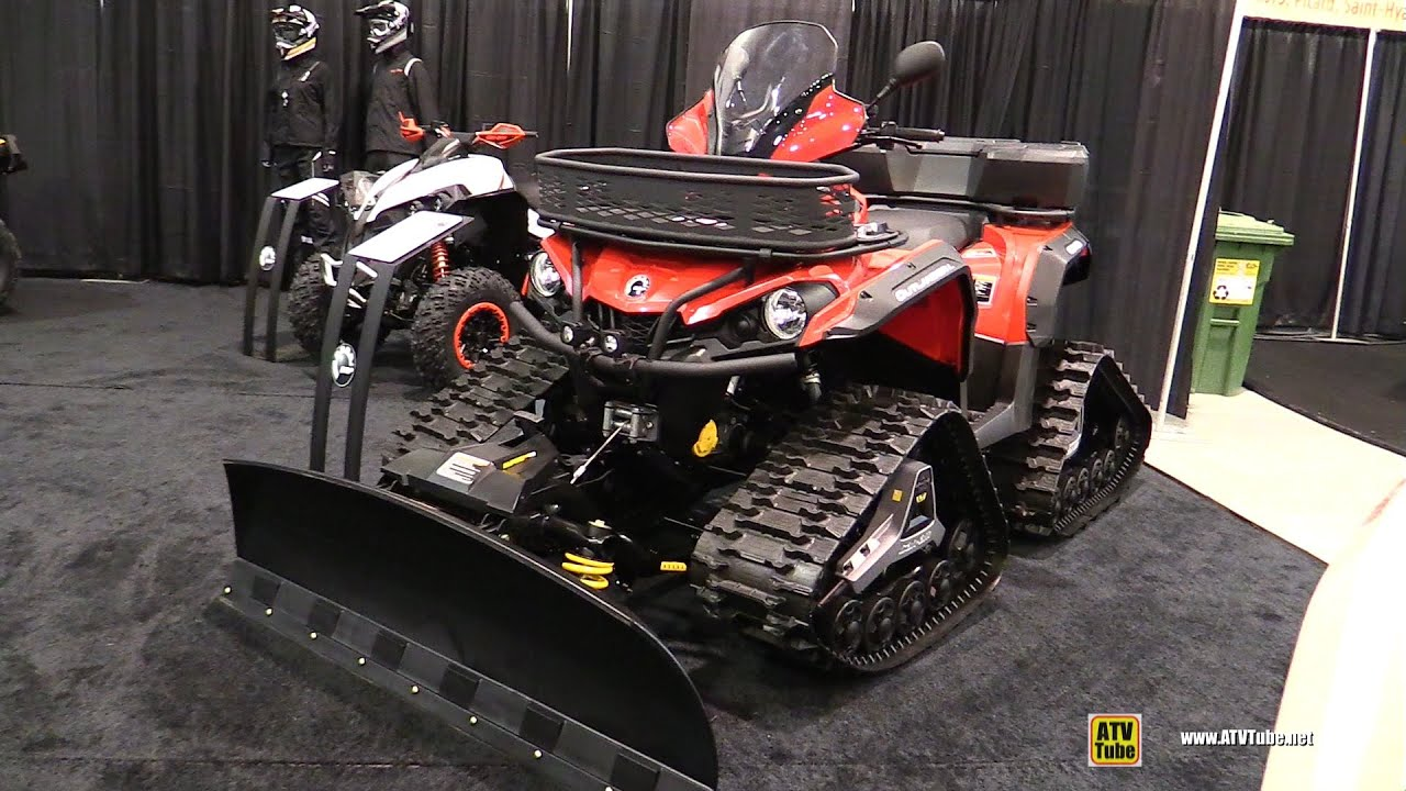 2016 Can Am Outlander L 500 With Trail And Snow Kit Walkaround