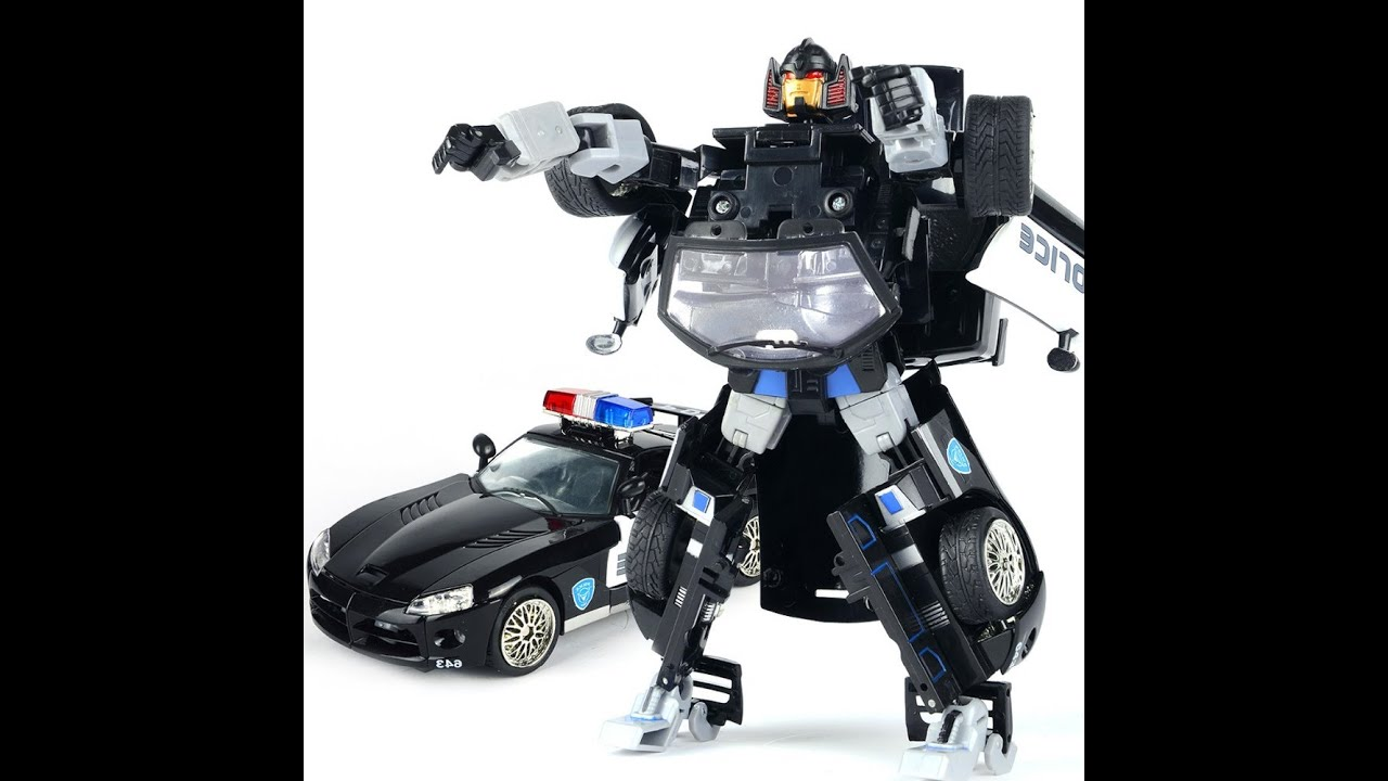 Transformer Police Car Toy Transformer Police Figures