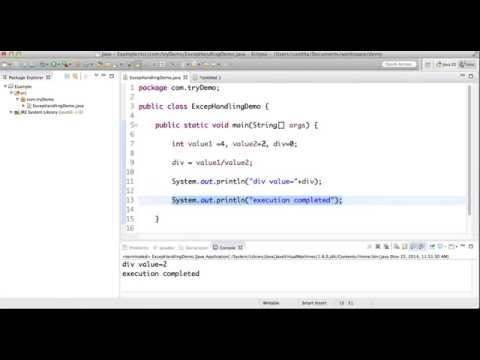 try catch in java with example
