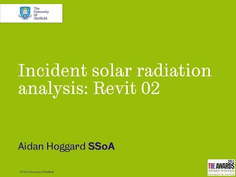 Incident Solar Radiation Analysis Revit 02